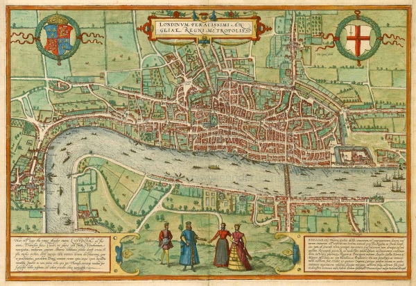 Map Of London Centre.London In The 14th Century Violence Research Centre